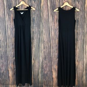 Boden maxi dress size 4L black solid long casual